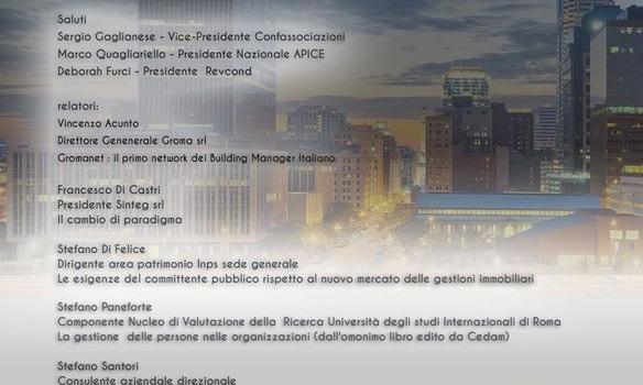 CONVEGNO: LA GESTIONE MANAGERIALE DEL CONDOMINIO – 19 FEBBRAIO