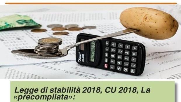 LEGGE di STABILITA' 2018, CU 2018, La PRECOMPILATA